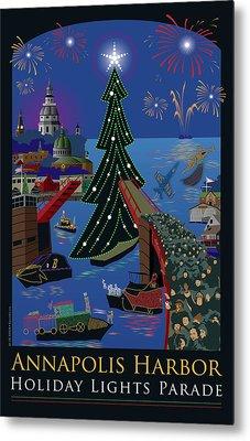 Annapolis Holiday Lights Parade Metal Print