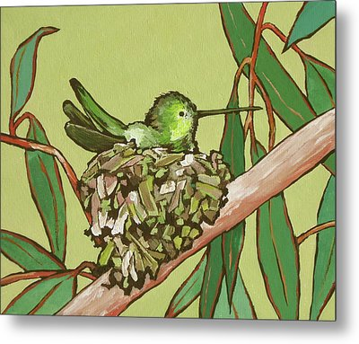 Annas Hummer Metal Print by Sandy Tracey