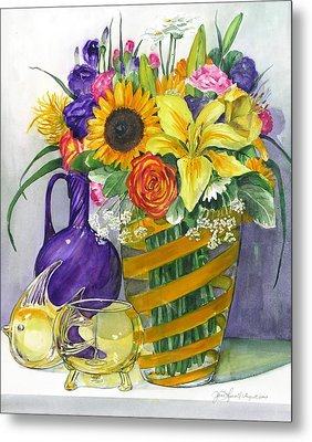 Anniversary Bouquet Metal Print by Jane Loveall