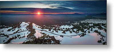 Metal Print featuring the photograph Another Sunset At Crater Lake by William Lee