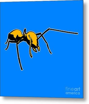 Ant Graphic  Metal Print by Pixel  Chimp