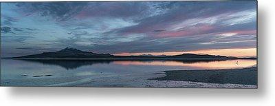 Antelope Island Panoramic Sunset Metal Print by Justin Johnson