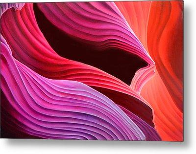 Antelope Waves Metal Print by Anni Adkins