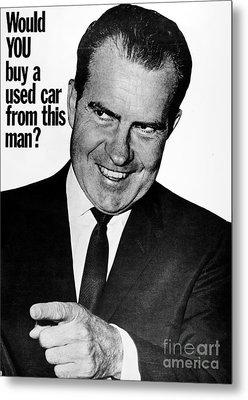 Anti-nixon Poster, 1960 Metal Print by Granger