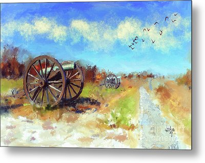 Metal Print featuring the digital art Antietam Under Blue Skies  by Lois Bryan