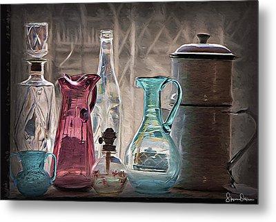 Antique Glassware - Signed Limited Edition Metal Print by Steve Ohlsen