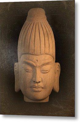 antique oil effect Buddha Burmese Metal Print by Terrell Kaucher