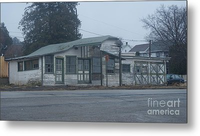 Antique Refueling Station   # Metal Print by Rob Luzier