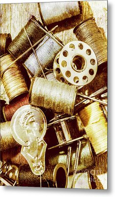 Antique Sewing Artwork Metal Print by Jorgo Photography - Wall Art Gallery