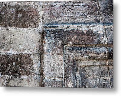 Antique Stone Wall Detail Metal Print by Elena Elisseeva