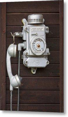 Antique Telephone Metal Print by Jaak Nilson