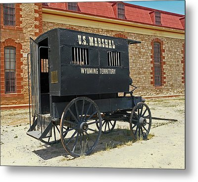 Antique U.s Marshalls Wagon Metal Print