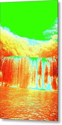 Antique Waterfall Metal Print by Erika Swartzkopf