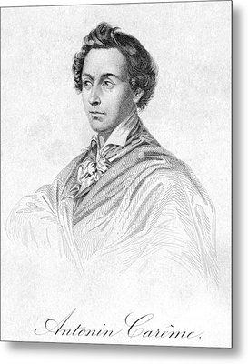 Antonin Car�me (1783-1833) Metal Print by Granger