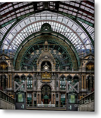 Antwerp Train Terminal Metal Print by Doug Sturgess