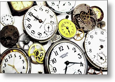 Anybody Really Know What Time It Is Metal Print by Pat Cook