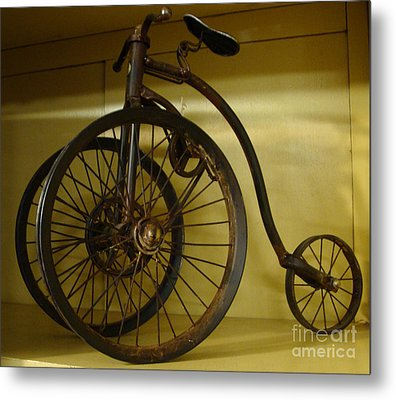 Metal Print featuring the painting Anyone For A Bike Ride?  by Rod Jellison