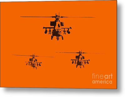 Apache Dawn Metal Print by Pixel  Chimp