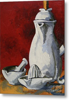 Metal Print featuring the painting Apilco No. 4 by Erin Fickert-Rowland
