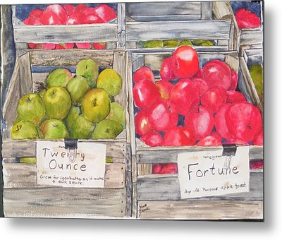 Apple Crate Metal Print