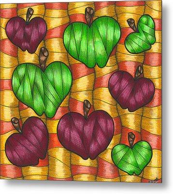 Apples Metal Print by Hilda Tovar