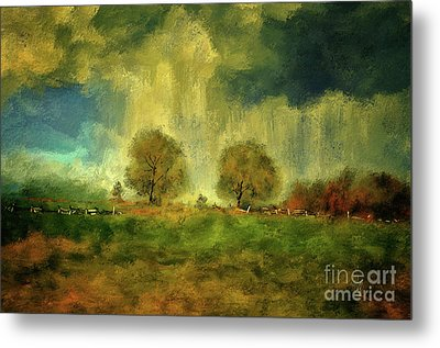 Metal Print featuring the digital art Approaching Storm At Antietam by Lois Bryan