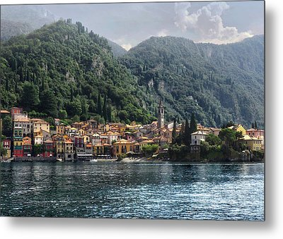 Approaching Varenna Metal Print by Jim Hill