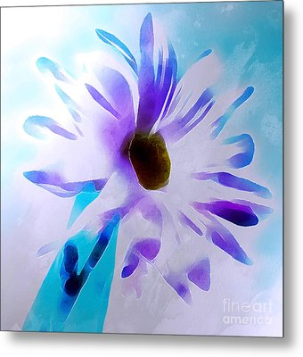 April Daisy Metal Print by Krissy Katsimbras