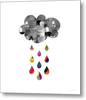 April Showers- Art By Linda Woods Metal Print