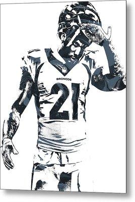Aqib Talib Denver Broncos Pixel Art Metal Print
