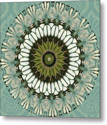 Aquamarine Abstract Metal Print by Bonnie Bruno