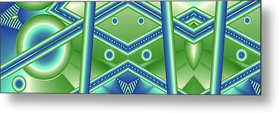 Aquamarine Metal Print by Ron Bissett