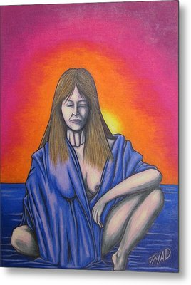 Metal Print featuring the drawing Aquarius by Michael  TMAD Finney