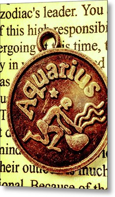 Aquarius Zodiac Sign Metal Print by Jorgo Photography - Wall Art Gallery