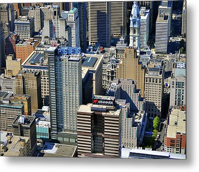 Metal Print featuring the photograph Aramark Psfs Buildings 1101 Market St Philadelphia Pa 19107 2926 by Duncan Pearson