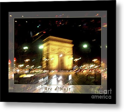 Arc De Triomphe By Bus Tour Greeting Card Poster V1 Metal Print by Felipe Adan Lerma