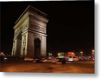 Arc Du Triomphe Paris Metal Print by Erik Tanghe