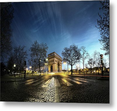 Arc Of Triumph Metal Print by Pascal Laverdiere