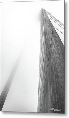 Arch In Fog Metal Print by Jae Mishra