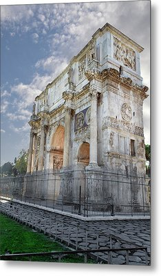 Metal Print featuring the photograph Arco Di Costantino by John Hix
