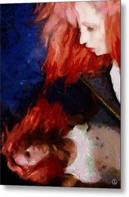 Metal Print featuring the digital art Are You There My Mirror Twin by Gun Legler