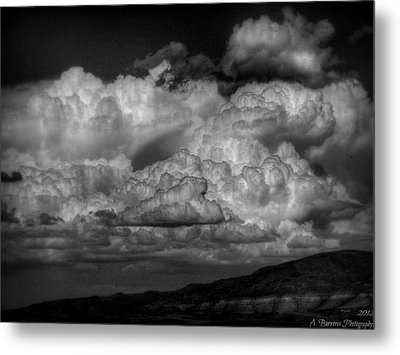 Arizona Monsoon Black And White Metal Print
