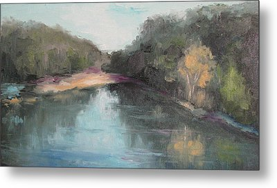 Arkansas River Scene Metal Print