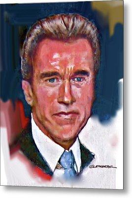 Arnold Schwarzenegger Metal Print by Dean Gleisberg