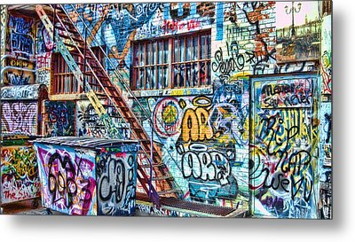 Art Alley 2 Metal Print