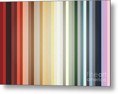 Art Deco Color Palette Of 1940 Metal Print by Radu Bercan