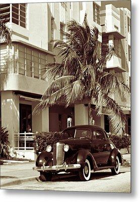 Art Deco Ocean Boulevard Miami Beach Florida Metal Print by George Oze