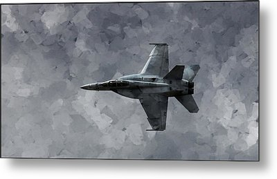 Metal Print featuring the photograph Art In Flight F-18 Fighter by Aaron Lee Berg