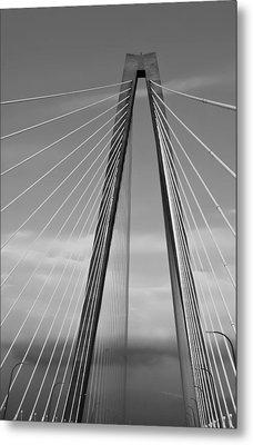 Arthur Ravenel Jr Bridge II Metal Print by DigiArt Diaries by Vicky B Fuller