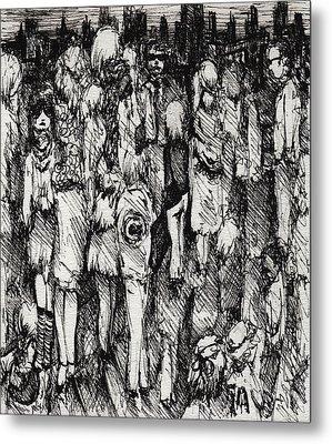 Artist In The City Metal Print